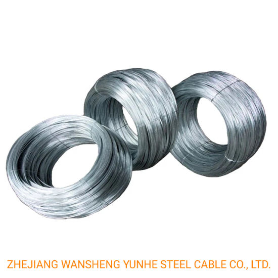 2.11mm 2.7mm Electric Galvanized Iron Wire Low Tenstle Strength