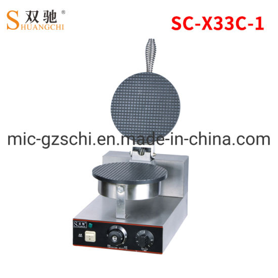 Commercial Single Plate Cone Baker Ice Cream Machine Crispy Machine Egg Roll Machine pictures & photos