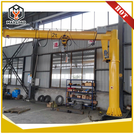 1t Motor Rotation Arm Lift Jib Crane with Electric Chain Hoist