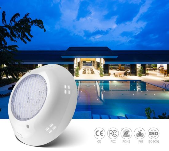 Recessed ABS Vinyl and Concrete Underwater Color Changing LED Pool Lights 25W
