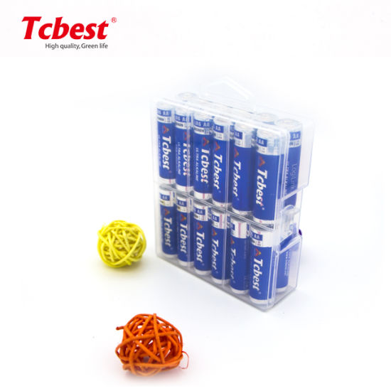 Tcbest Long Lasting 1.5V Lr6 AA Alkaline Dry Cell Battery with MSDS/Kc/CE for Camera/Flashlight/Toys Control/Clock Packed in 24PCS/Box