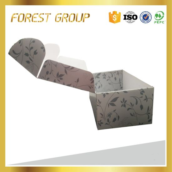 Huge Flower Decorated Folding Carton Paper Box for Packing