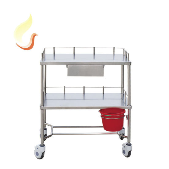 China Supplier Economic All Stainless Steel Medical Equipment Operating Instrument Trolley