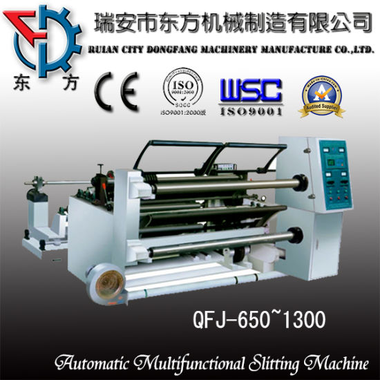 Reel Paper Film Slitting Machine (QFJ-1100) pictures & photos