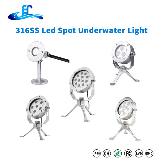 3watt 9watt 18watt 27watt 36watt 3in1 RGB LED Underwater Spot Light