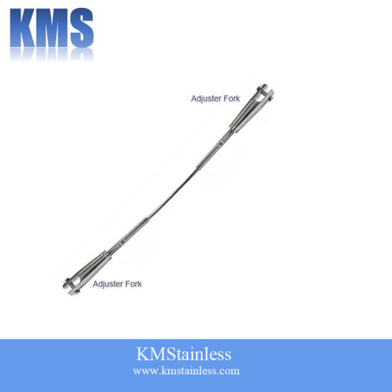 316 Stainless Steel Made to Measure Architectural Adjuster Fork Wire Rope Assembly pictures & photos