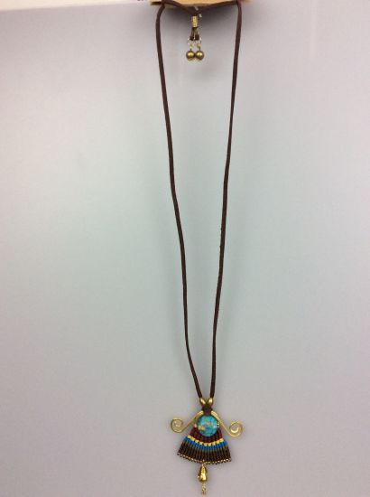 Polyester Cord Turquoise Necklace for Women Fashion Accessory Jewelry pictures & photos