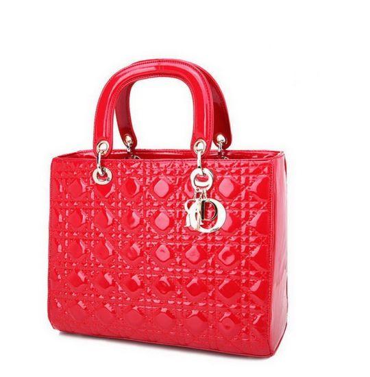 Classic Quilted Patent Leather Bag Women Designer Handbags