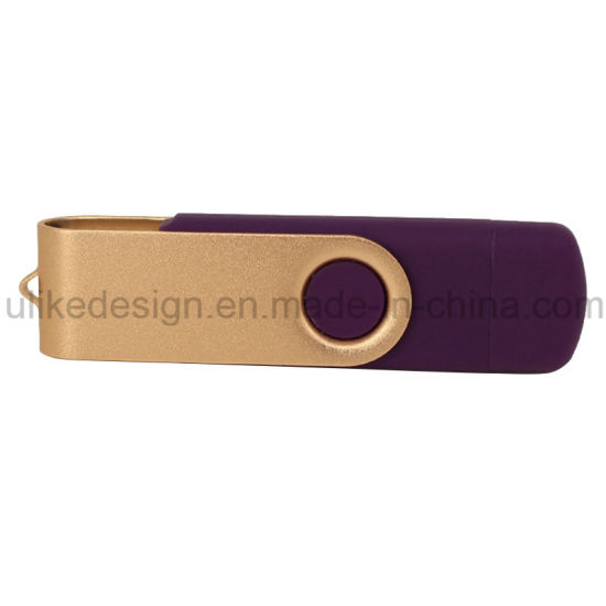 Hot Sale Swivel Plastic Promotion Gift OTG USB Flash Drive (UL-OTG016) pictures & photos