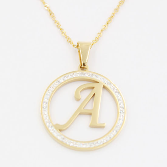 China i p gold plating letter pendant with clear stones gift i p gold plating letter pendant with clear stones gift necklace jewelry mozeypictures Images