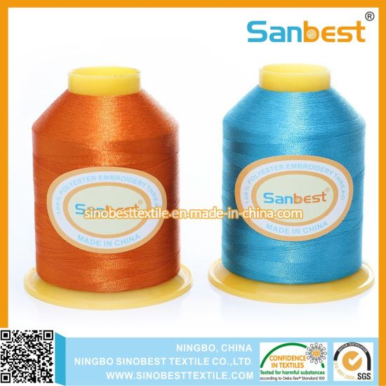 Colorful 100% Polyester Embroidery Thread pictures & photos