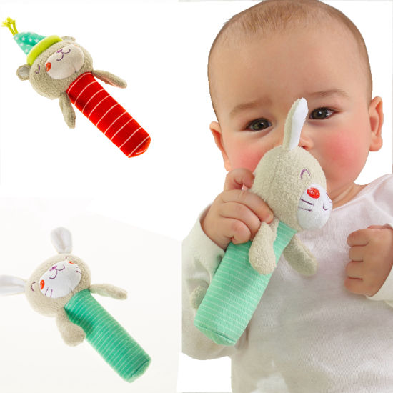 Animal Hand Rattle Soft Plush Stick Infant Dolls Developmental Toy pictures & photos