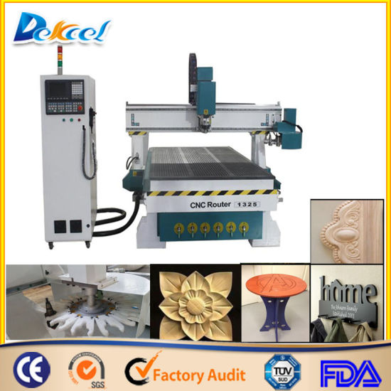 China 1325 Vacuum Table Cnc Router Wood Furniture Carving Machine