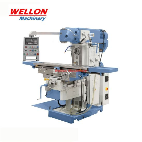 360 Swivel Head Milling Machine XL6436clv with Horizontal and Vertical Milling Head