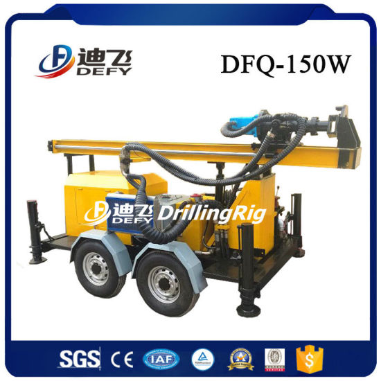Portable DTH Water Well Geothermal Drilling Rig 150m