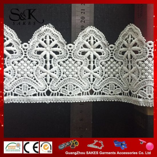 Milk Silk Embroidery Lace / Wedding Garment Accessories pictures & photos