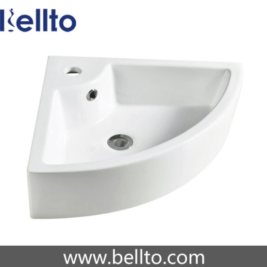Small Wall Hung Corner Mounted Wash Basin 3503b