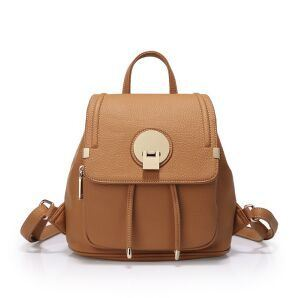 Leather Drawstring Bag Waterproof Backpack Women OEM New Designer Packs pictures & photos
