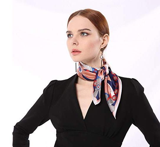 Custom Design Digital Print Fashion Lady 100% Pure Silk Scarf Shawl