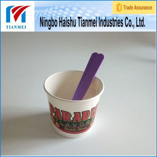 Disposable Custom Prinetd Paper Yogurt Cup pictures & photos