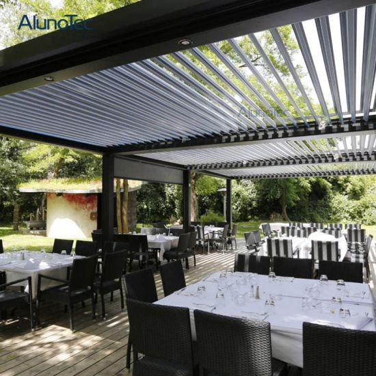 Motorized Retractable Roof Canopy System & China Motorized Retractable Roof Canopy System - China Aluminum ...