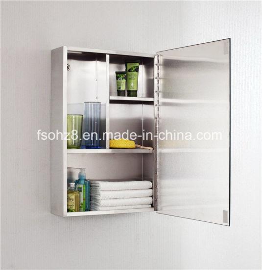 Big Sale In India Stainless Steel Furniture Bathroom Mirror Cabinet (7022)