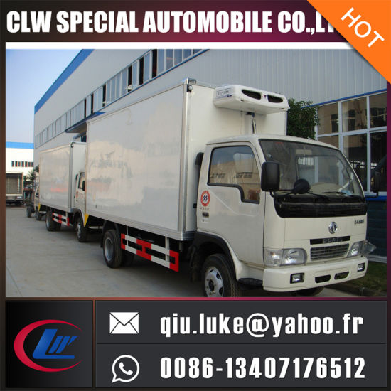china dongfeng 4x2 95hp 5 10 tons refrigerated van freezer truck for rh cn truck en made in china com