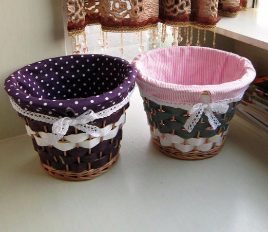 Decorative Handmade Container Wholesale Promotional Handwoven Willow Basket (BC-ST1248) pictures & photos