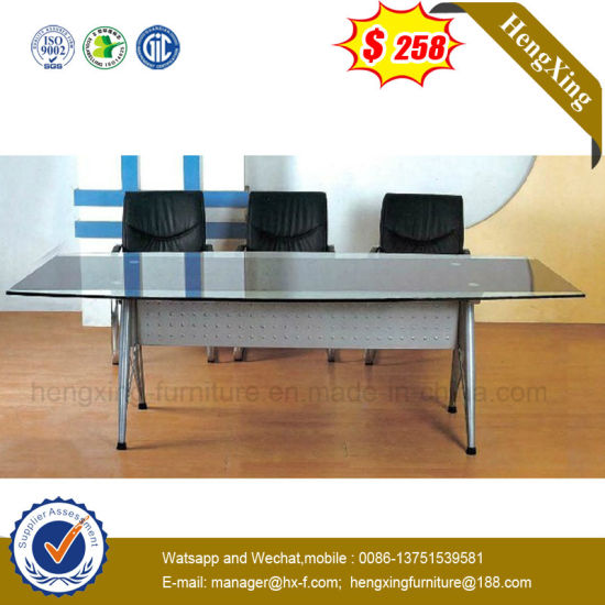 China Normal Simple Large Storage Glass Metal Steel Frame Conference - Conference table with storage