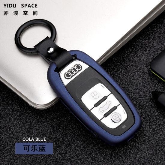 1 Set For Mercedes-Benz Carbon Fiber Smart Car Key Case Cover Fob Holder DF