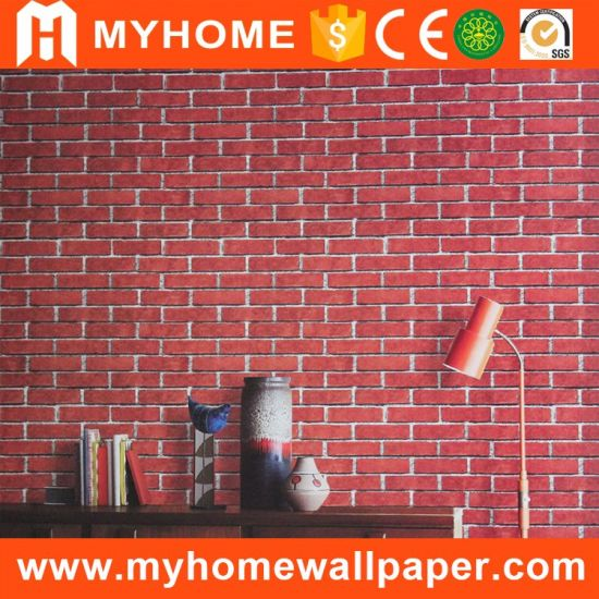 China Modern Style Brick Design Living Room PVC Material Home ...