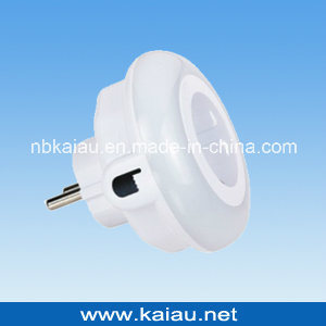 9LEDs Three Color Version Color Changing Touch Switch Photocell Sensor LED Night Light with Adaptor