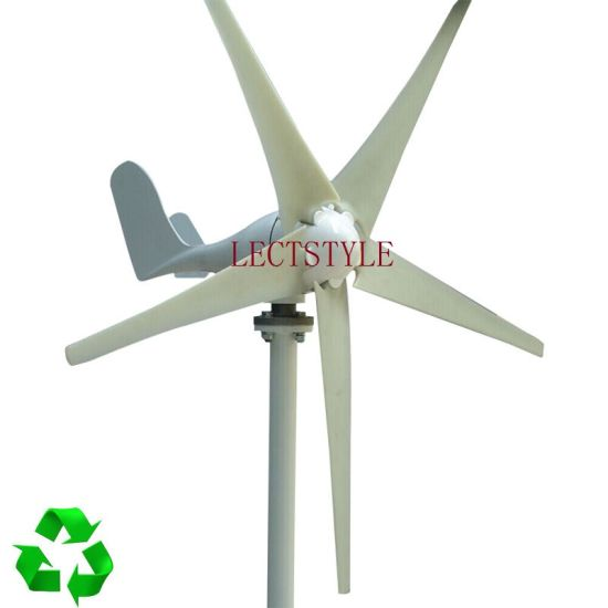 5 Blades 400W 12V24VDC Wind Turbine Generator with Waterproof Charge Controller pictures & photos