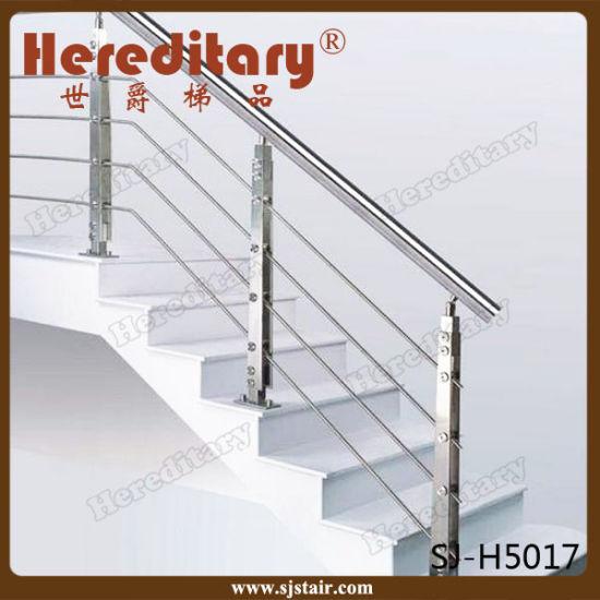 Brush Finish Residential Stainless Steel Stair Railing For Interior  (SJ H5056)