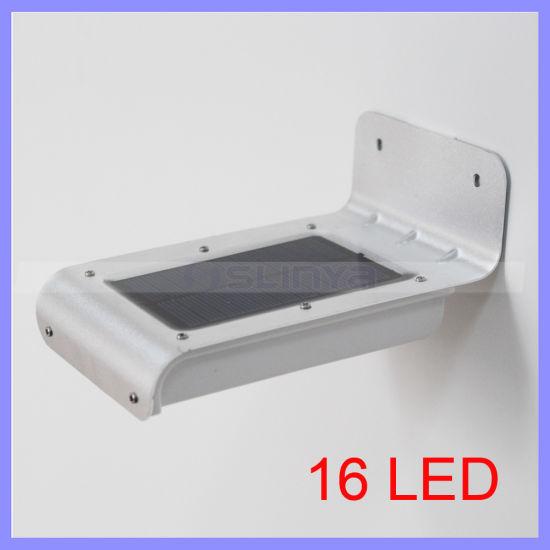 Waterproof Wireless 16 LED Solar Power Ray Sound Motion Sensor Lamp Outdoor Wall Path Garden Yard Garage Light (1119c)