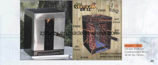 China Camping Vertical Charcoal BBQ Grill - China BBQ Smoker