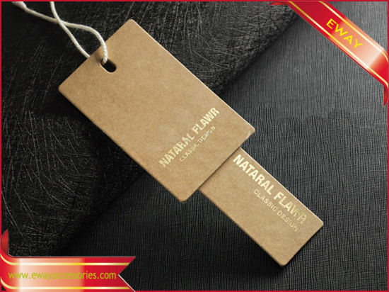 Paper Hang Tag Hangtag Kraft Paper Tag for Garment pictures & photos