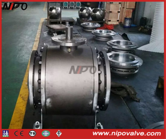 3-PCS Forged Steel Flanged Trunnion Ball Valve (Q47F)