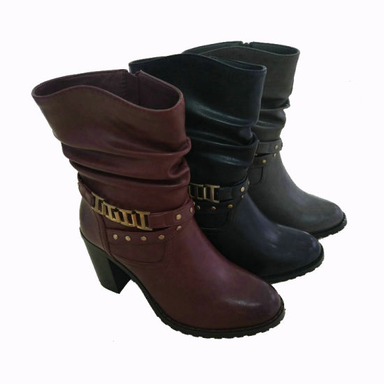 7a2c86be5e0a China Fashion Outdoor Ladies Winter Heeled Knee-High Long Boots ...