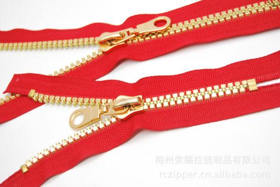 5# Derlin Zipper with Gold-Teeth