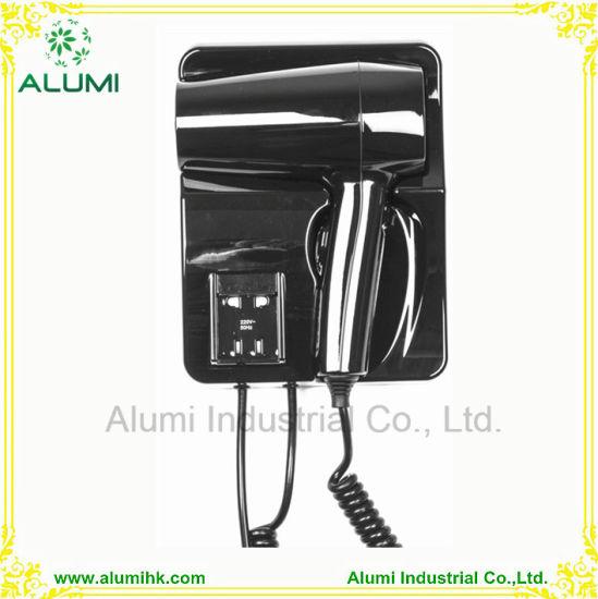 Bathroom Black Colour Wall Mounted Hair Dryer