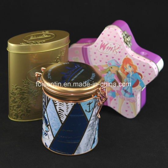 Custom Embossment Tin Box with Special Design Factory Supply Metal Boxes Food Grade Package for Food Gift Wine Tea Holder or Can pictures & photos