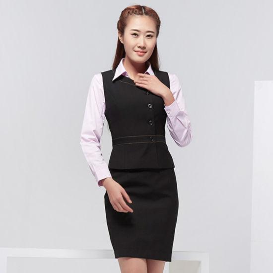 Women Two Piece Business Jumper Skirt Suit Dress For Office Wear