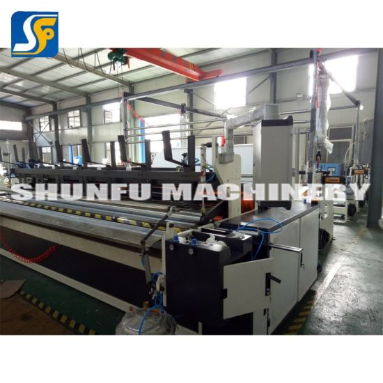 Automatic Roll Rewinding Machine/ Slitter Machine/ Tissue Paper Manufacturing Process pictures & photos