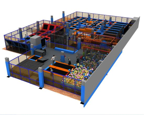China Customized Made Trampoline Indoor Trampoline Park pictures & photos