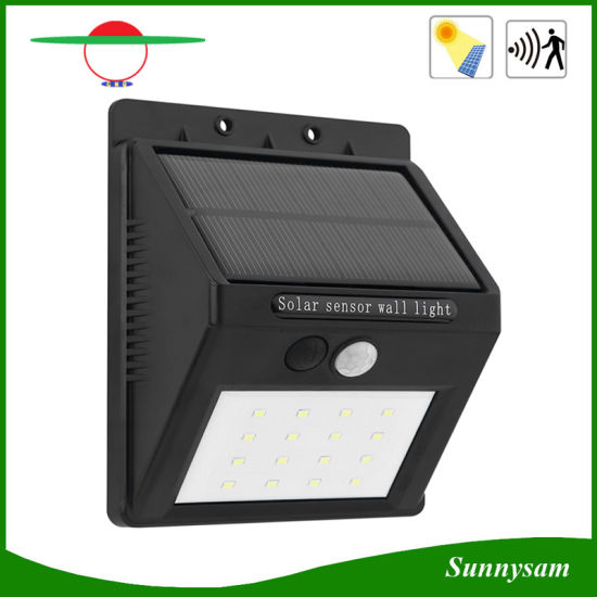 16LED Outdoor Lamp Motion Sensor Solar Light IP65 LED Wall Pack 350lm  Security Night Light
