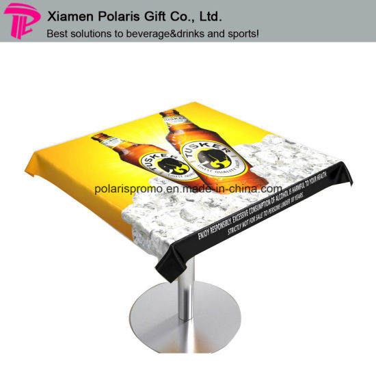 Customized Printed Vinyl Table Cloth for Beer Advertising pictures & photos