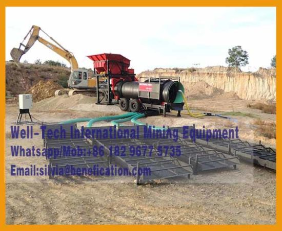 Mobile Sand Gold Trommel Drum Screen pictures & photos