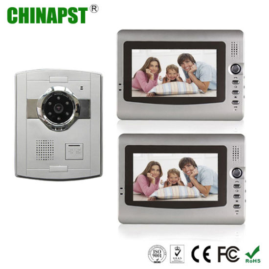 China 7 Inch Color Apartment Video Door Phone Intercom System Pst