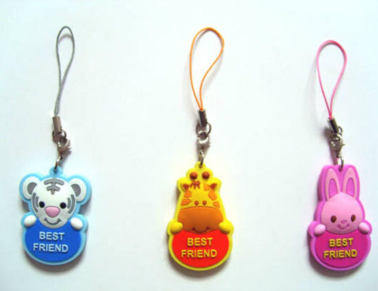 OEM Nice PVC Mobile Phone Strap pictures & photos